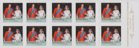 "Aus SG3593a ""Capturing the Moment"" Royal Wedding self-adhesive booklet pane (SB377)"